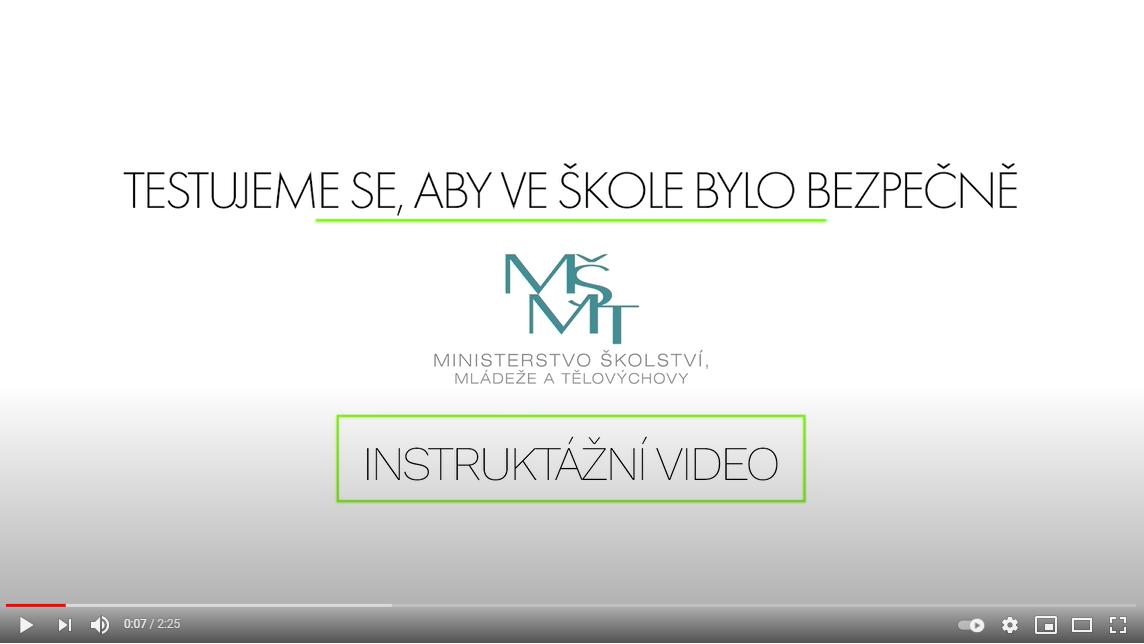 Instruktážní video MŠMT